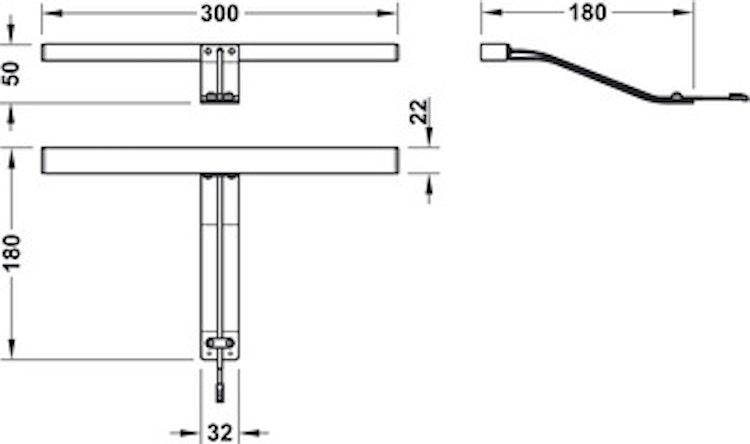 Montagebelysning - stavformad