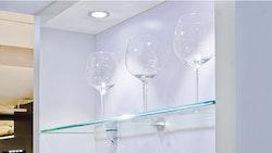 Belysning för glaskant