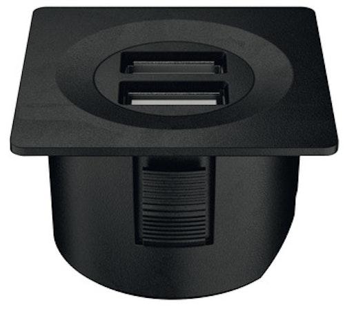 USB-uttag - svart