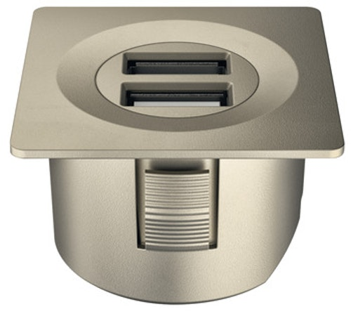 USB-uttag - nickelfärgat