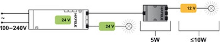 Konverter - 24 till 12 volt