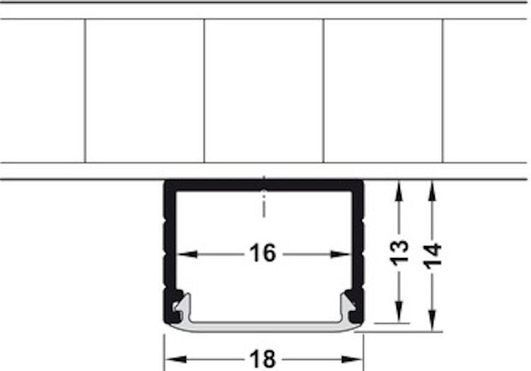 Aluminiumprofil för LED-stripe - utanpåliggande montering