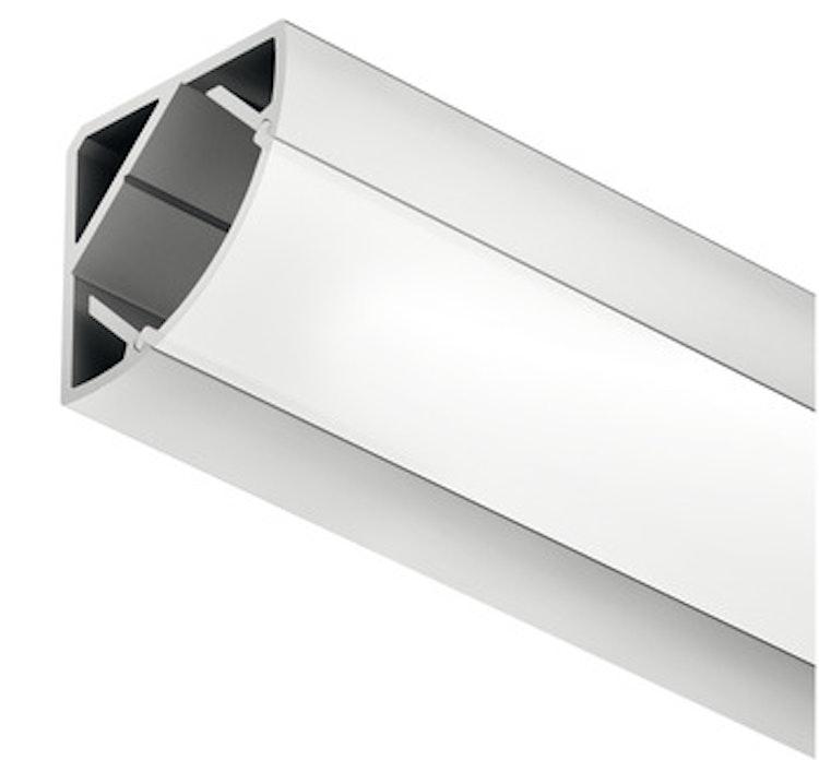 Aluminiumprofil för LED-stripe - montering i hörn