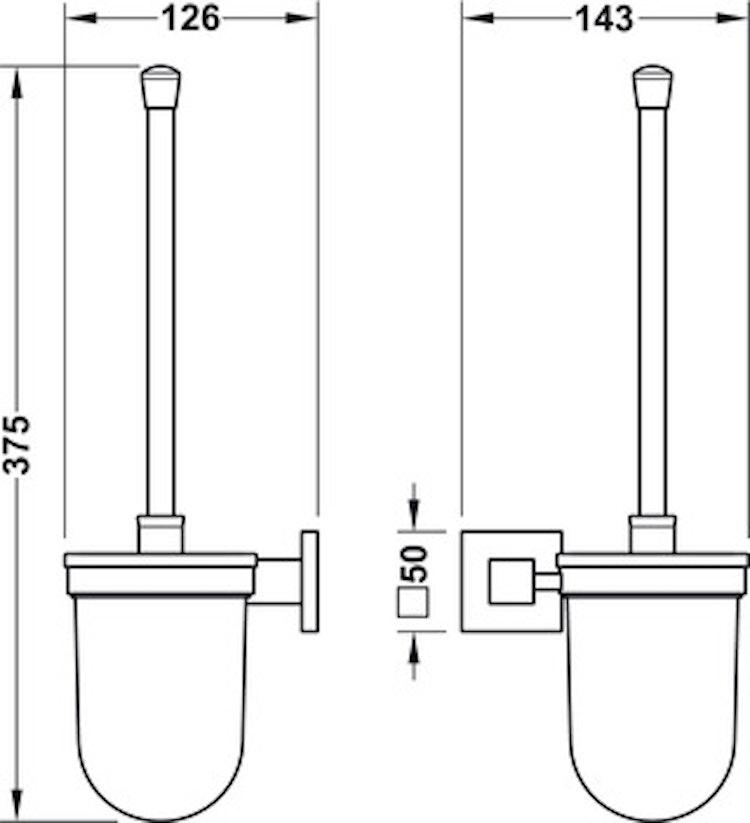 WC-borste, svart
