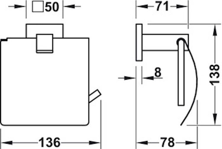 Toalettpappers-hållare, krom