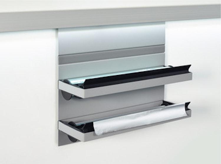 Foliehållare till utbyggbart förvaringssystem