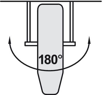 Strykbräda för montage i låda