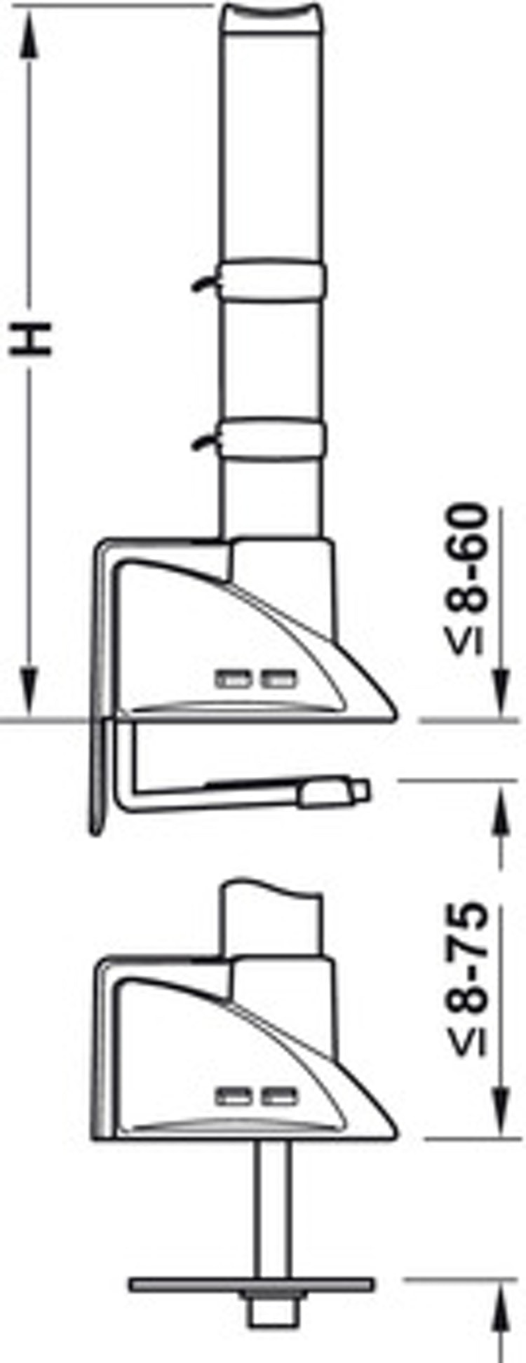 Bordsfäste - 290 mm