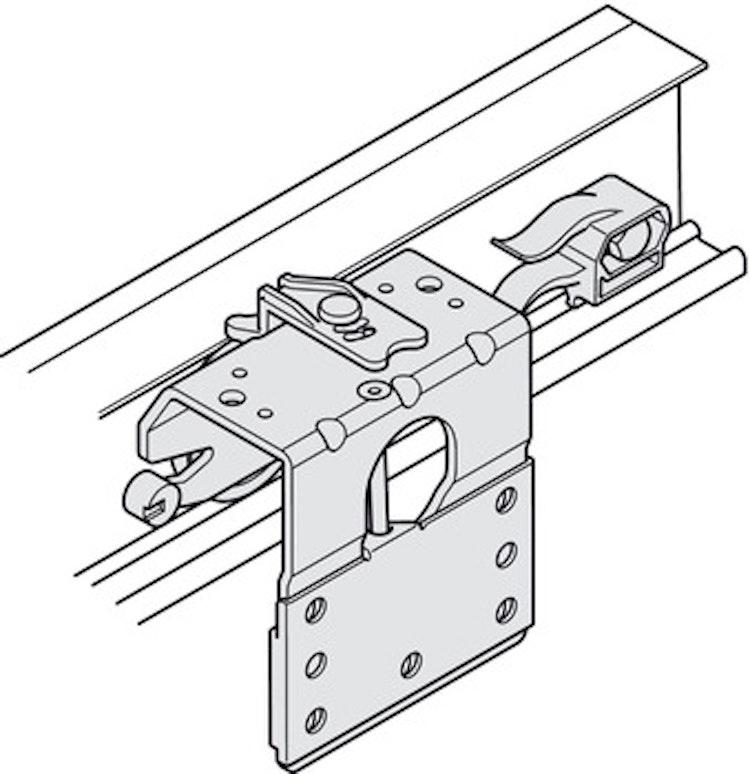 Skjutdörrs-beslag för t ex garderob, 2 dörrar