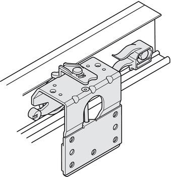 Skjutdörrs-beslag för t ex garderob, 3 dörrar