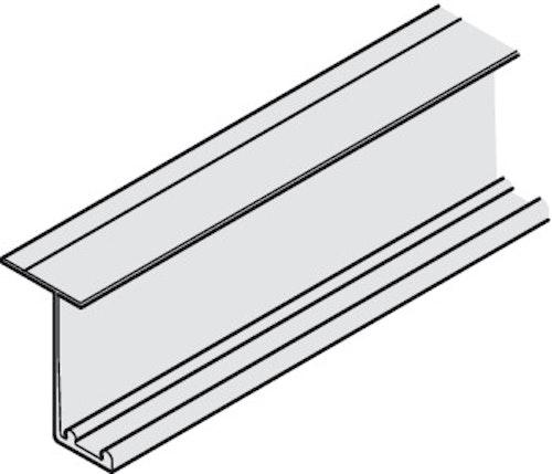 Dubbel toppskena till garderobsbeslag - 2500 mm