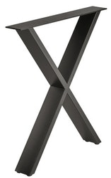 Bordsben - Design X, raw steel eller svart