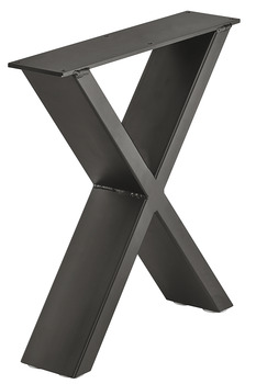 Ben till bänk - Design X, raw steel eller svart