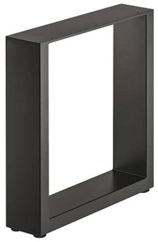 Ben till bänk - Design U, raw steel eller svart