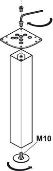 Designben - Rondella, rektangulär