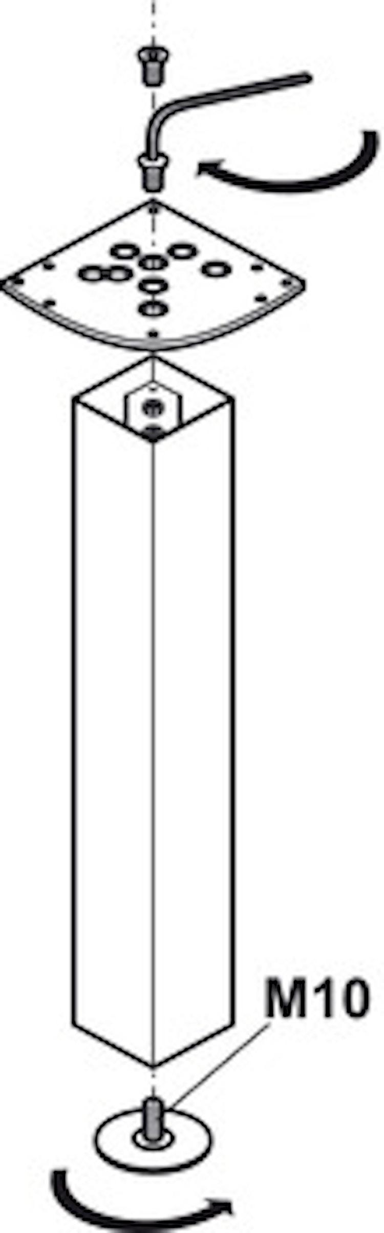 Designben - Rondella, eliptisk
