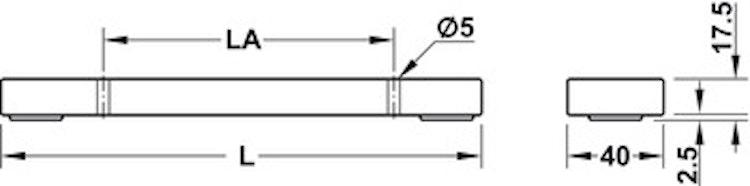 Möbelfot - olika längder och ytbehandlingar