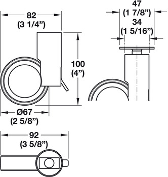 Möbelhjul - Design, olika infästningar