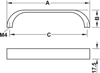Modell B5588 - finns i borstad nickel, borstad mässing och matt svart, cc 128 och 160 mm