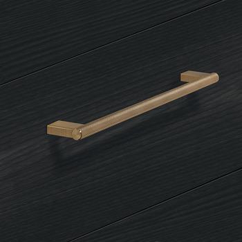 Modell B66 Design - finns i rostfritt, borstad mässing, och svart, cc 160, 256 och 1178 mm