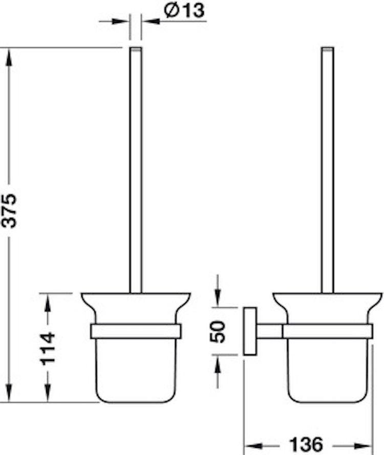 WC-borste med hållare - Exclusive Line