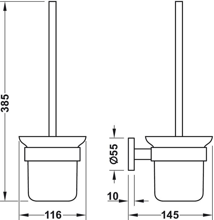 WC-borste med hållare - Round Line