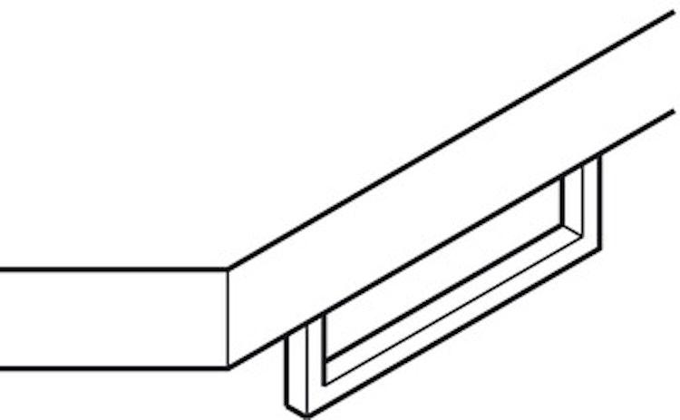 Handdukshängare, undermonterad - 400 mm