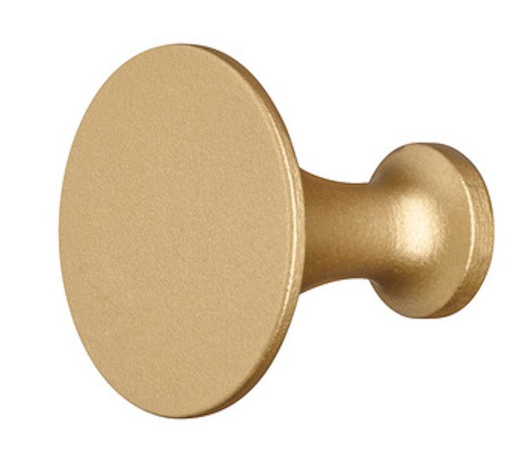 Möbelknopp, finns i svart, krom och guld