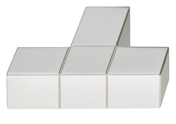 Möbelknopp Modell H1945, finns i borstad nickel, grå och svart