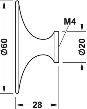 Möbelknopp modell H1960