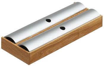 """Foliedispenser till """"Besticksinsats - Flex"""". Bygg din egen inredning till dina lådor. Finns i ek och svartbetsad ask."""