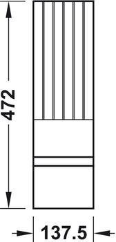 """Knivblock till """"Besticksinsats - Flex"""". Bygg din egen inredning till dina lådor. Finns i ek och svartbetsad ask."""