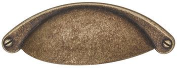 Skålhandtag - finns som järn, antikt tenn, antik mässing, rostfritt och svart