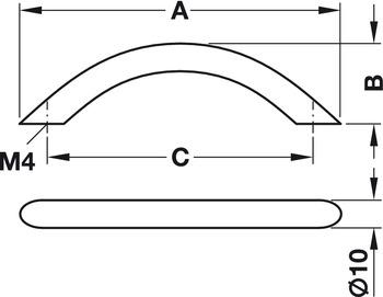 Modell B6622 - finns i polerad och matt krom, cc 192, 256, 288 och 352 mm