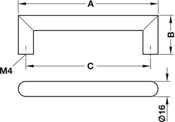 Modell D44 - finns i rostfritt, cc 128, 160, 192 och 320 mm