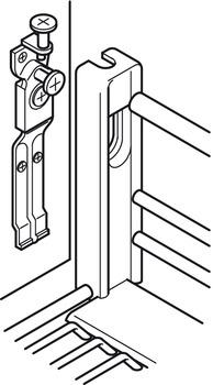 Kesseböhmer - Frontutdrag till underskåp med hel botten, för montering i lådfront - finns till skåp 400, 450, 500 och 600 mm