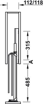 Häfele - Pull-out för fixering i lådfront