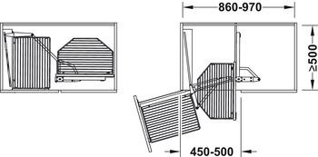 Häfele - Pull out & turn, finns i krom/wire, svart/träbotten och krom/träbotten