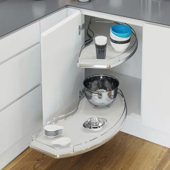 Häfele - Corner Cabinet, finns i krom och grå