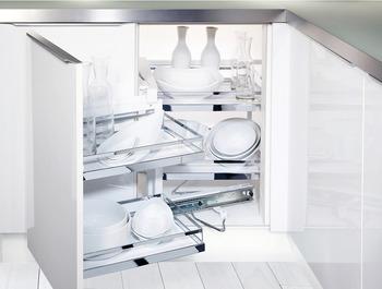 Kesseböhmer - Magic Corner - finns i vit, krom och anthracite