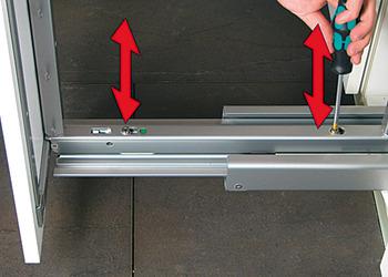 Kesseböhmer - Dispensa  Door frontfixing