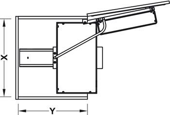 Häfele - Pull-out larder unit - finns med korghylla eller krom/vit botten