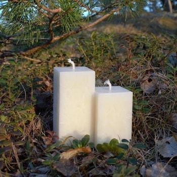 Handgjutna honungsljus 2-pack -fyrkantiga