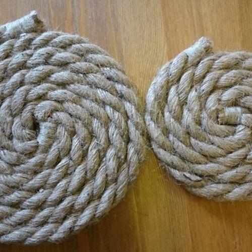 Grytunderlägg av rep