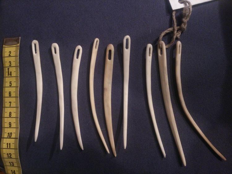 Nålbindningsnål horn