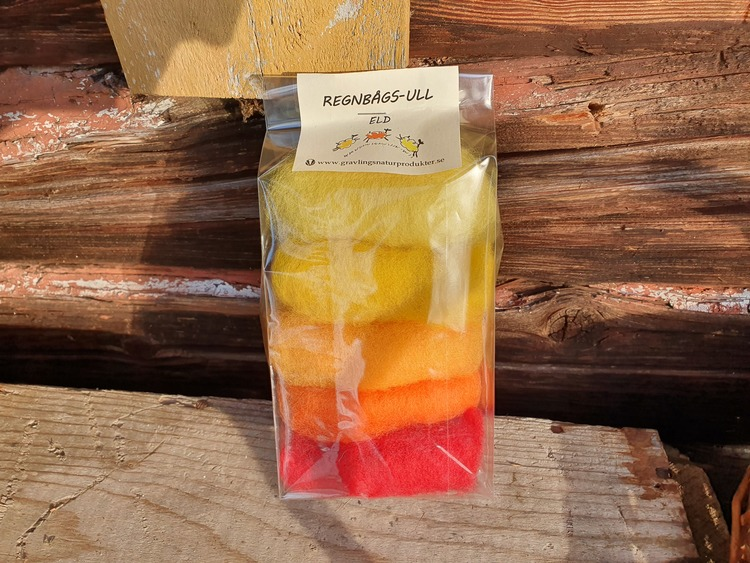 Regnbågsull -4-pack
