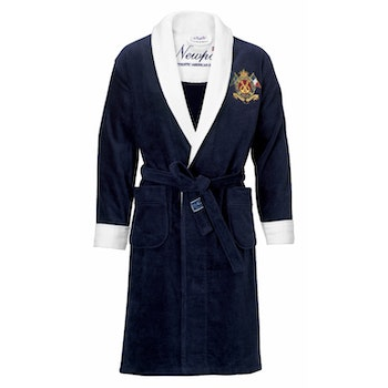 Yacht Club Bathrobe Navy