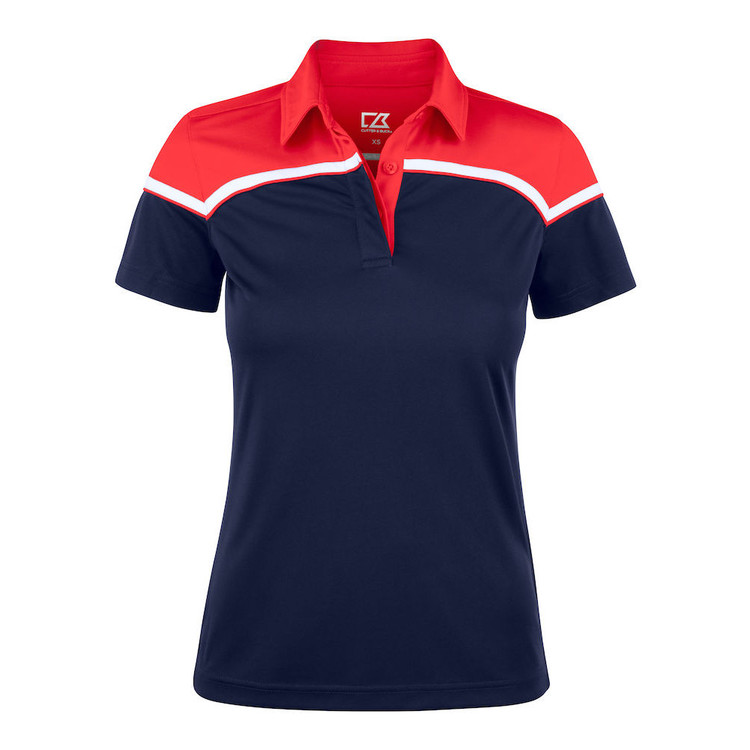 Seabeck Polo W Navy/Red