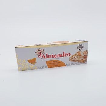 Turrón Crunchy Almond med apelsin