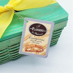 Servettbox med cantuccini (grön)